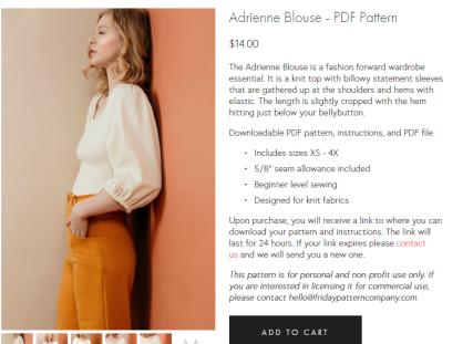 Adrienne blouse