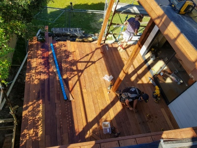 Studio deck from main deck above