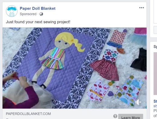 Paper Doll blanket